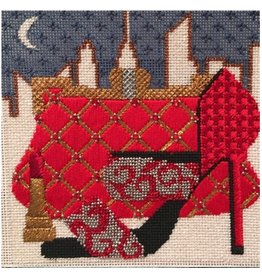 "Melissa Prince Paint The Town Red<br /> w/stitch guide<br /> 5"" x 5"""