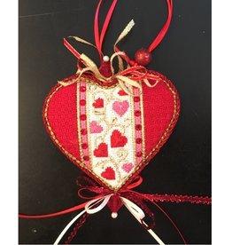 """Amanda Lawford Heart of Hearts w/stitch guide<br /> 4"""" x 4"""""""