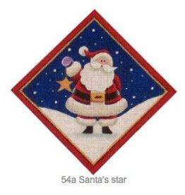 "Rebecca Wood Santa's Star tree skirt diamond<br /> 6"" x 6"""