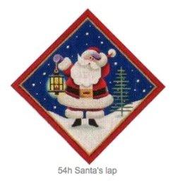 "Rebecca Wood Santa's Lamp - tree skirt diamond<br /> 6"" x 6"""