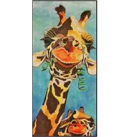 "Purple Palm Designs ""Hey ~ What's Up"" Giraffe<br /> 17"" x 8"""