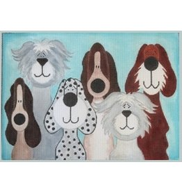 "Julie Mar 6 Whimsical Pups<br /> 12"" x 9"""