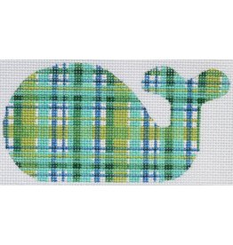 """Kate Dickerson Madras Mini Whale - ornament<br /> 4 3/4"""" x 2 1/2"""""""