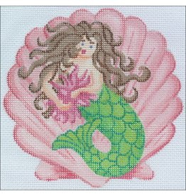 "Kate Dickerson Mermaid on Scallop Mini - <br /> 5"" diameter"