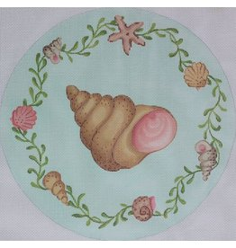 "Kate Dickerson Gilled Snail w/ Shell &amp; Seaweed Border<br /> 13 3/4"" Round"
