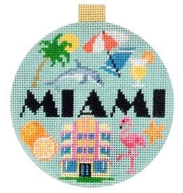 """Kirk &amp; Hamilton Travel Round-Miami<br /> 4"""" Round"""
