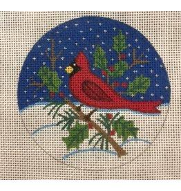 "Alexa Cardinal ornament<br /> 3.5"" Round"