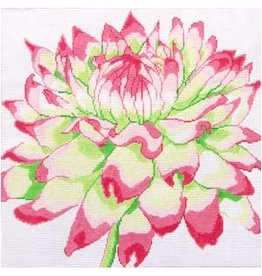 "Jean Smith Designs Regal Pink/Green Mum<br /> 14"" x 14"""