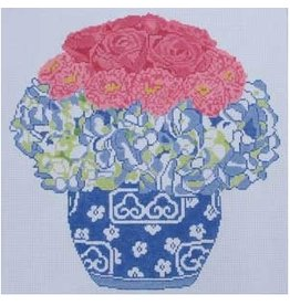 "Jean Smith Designs Hydrangea &amp; Roses Bouquet<br /> 14"" x 14"""