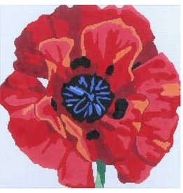 "Jean Smith Designs Poppy<br /> 14"" x 14"""
