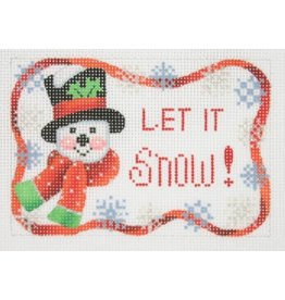 "Kirk &amp; Hamilton Snowman - Let It Snow - ornament<br /> 3"" x 4.5"""