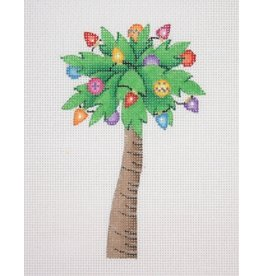 "Kirk &amp; Hamilton Palm Tree w/Lights ornament<br /> 5"" x 3"""