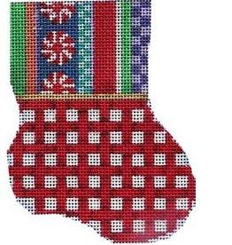 """Associated Talent Jolly / Stripe Red Lattice Mini Sock<br /> 3.25"""" x 4.25"""""""