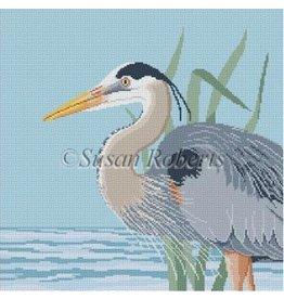 """Susan Roberts Great Blue Heron<br /> 15"""" x 15"""""""