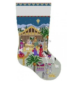 Susan Roberts Nativity Stable Stocking