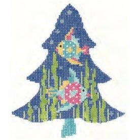 "Colonial Needle Tropics Fun Fish Tree - ornament<br /> 3.75"" x 4.5"""