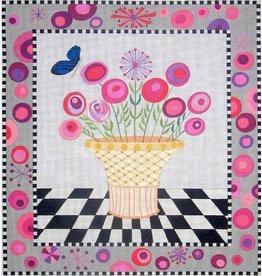 Zecca Flower Basket<br /> 15.5&quot; x 16.5&quot;