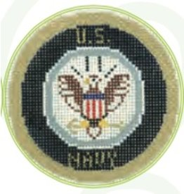 "Colonial Needle US Navy Emblem<br /> 3"" Round"