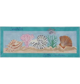 "BB Needlepoint Design Seashells by the Seashore<br /> 6"" x 14"""