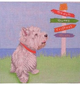 "Point of it All Lucky Dog<br /> 8"" x 8"""