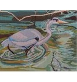 "Point of it All Heron<br /> 8"" x 10"""