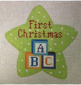 Meredith First Christmas Blocks -ornament