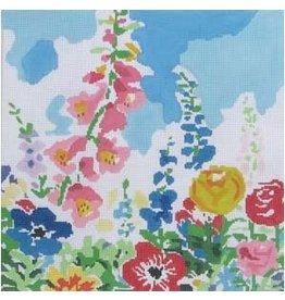 "Jean Smith Designs Summer Garden #1<br /> 14"" x 14"""