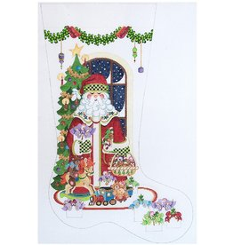 "Strictly Christmas Santa Stocking<br /> 13"" x 23"""