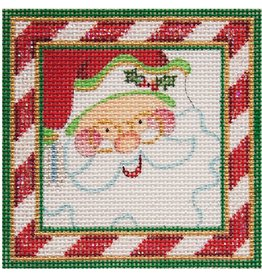 "Strictly Christmas Santa ornament<br /> 3.5"" x 3.5"""