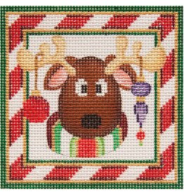 "Strictly Christmas Reindeer ornament<br /> 3.5"" x 3.5"""