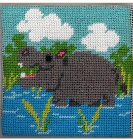 """Fleur de Paris Hippo (kid's kit)<br /> 9"""" x 9"""""""