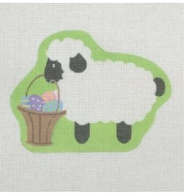 "Pepperberry Design Lamb with Basket<br /> 5.5"" x 4"""