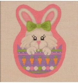 "Pepperberry Design Peeking Bunny<br /> 3.75"" x 4"""