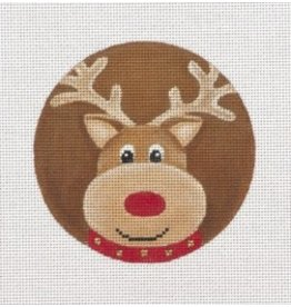 "Pepperberry Design Reindeer Chubs ornament<br /> 4"" Round"
