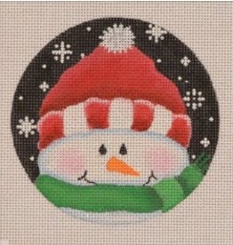 "Pepperberry Design Brrr… Red/Green Snowman - ornament<br /> 4"" Round"