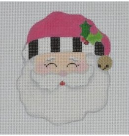 "Pepperberry Design Jolly Santa/Pink  - ornament<br /> 3.5"" x 4"""