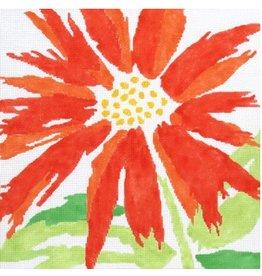"""Jean Smith Designs Splash Flower - Orange<br /> 14"""" x 14"""""""