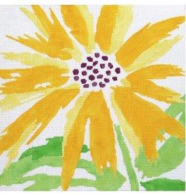 """Jean Smith Designs Splash Flower - Yellow<br /> 14"""" x 14"""""""