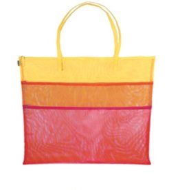 Walker Dunham Triple Zip - Multi Colored w/Handles - Fuchia/Orange/Yellow - Tote Bag<br />