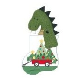 Kathy Schenkel Dragon Wagon w/Dragon mini sock ornament
