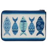 Alice Peterson Blue Fishes Cosmetic Case - Kit
