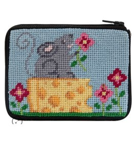 Alice Peterson Mouse & Cheese Coin Purse/Credit Card Case - Kit