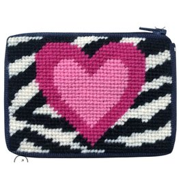 Alice Peterson Zebra Heart Coin Case - Kid's Kit