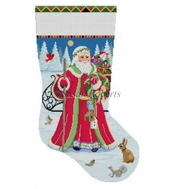 Susan Roberts Santa Birdhouse Delivery Stocking