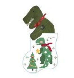Kathy Schenkel T Rex w/T Red Mini Sock Ornament