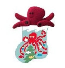 Kathy Schenkel Octopus w/Octpous mini sock ornament
