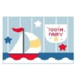 "Kathy Schenkel Sailboat Toothfairy Pillow<br /> 6"" x 4"""