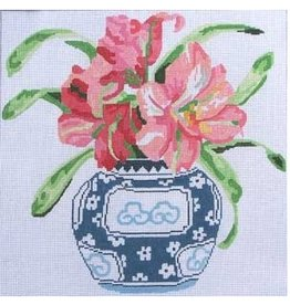 "Jean Smith Designs Amaryllis Blooming<br /> 14"" x 14"""