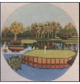 "Purple Palm Designs TPC Sawgrass Golf Course<br /> 4"" Round<br /> ornament/coaster"