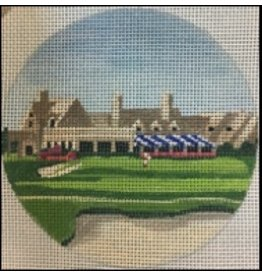 """Purple Palm Designs Winged Foot Golf Course<br /> 4"""" Round<br /> ornament/coaster"""